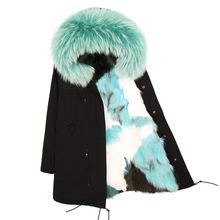 2018 maomaokong Women fox fur long Jacket coats winter Thickening Parkas