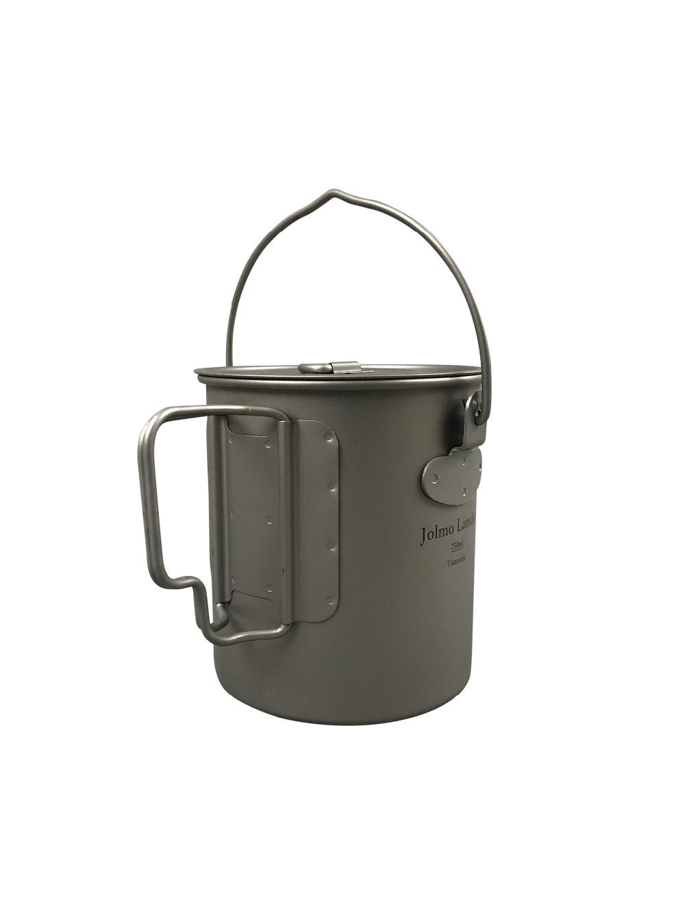 Jolmo Lander Titanium Pot with Bail Handle Outdoor Ultralight Folding Pot 750ml clairol 750ml