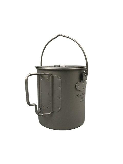 Jolmo Lander Titanium Pot with Bail Handle Outdoor Ultralight Folding Pot 750ml