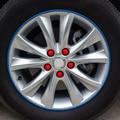 19mm 20 unids/lote tuercas de las ruedas del coche de silicona fundas para mitsubishi asx/outlander/lancer evolution/pajero/eclipse/grandis
