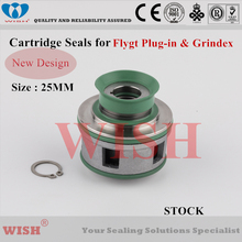 25mm New plug in cartridge seal /Flygt and Grindex pump mechanical seal 2660,4630 & 4640 цена