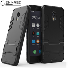 Cenmaso Case For MEIZU M5C Meilian 5C / A5 TPU + PC Armor Full Protection Kickstand Phone Back Cover Shell Meizu