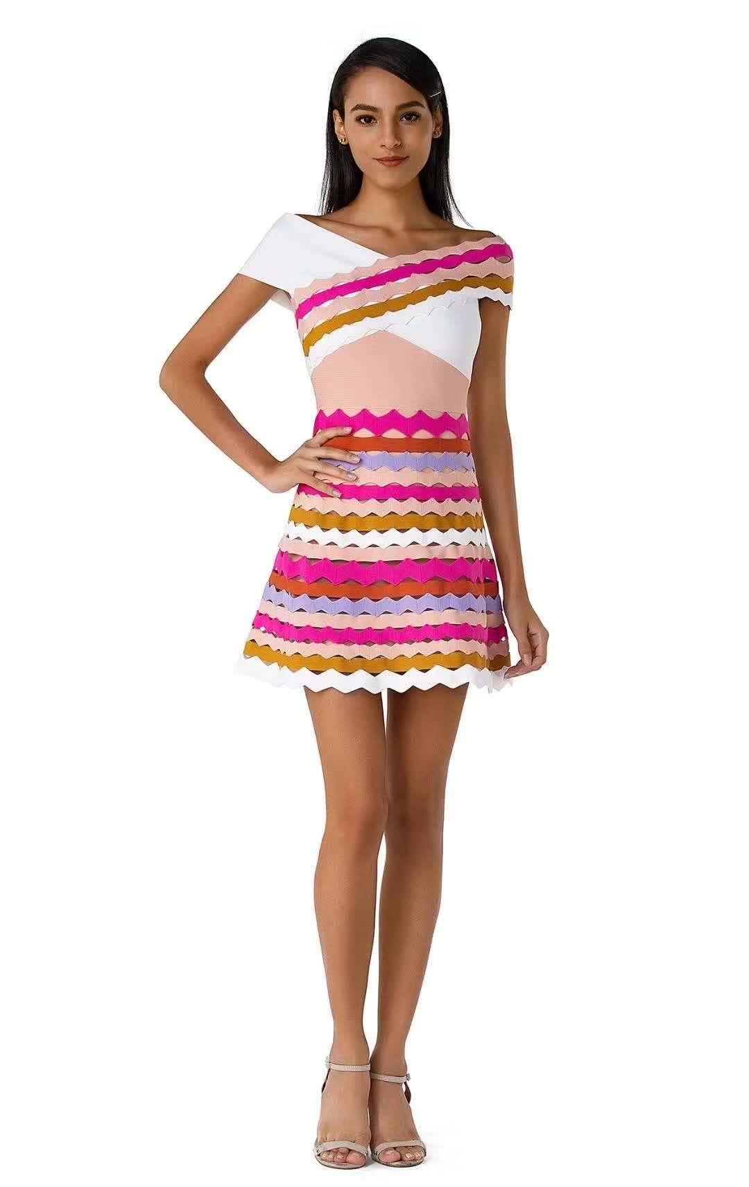 Delocah, модное осеннее Мини Короткое платье для подиума, женское платье с расклешенными рукавами, с принтом персонажа, кружевное Сетчатое элег... - 2