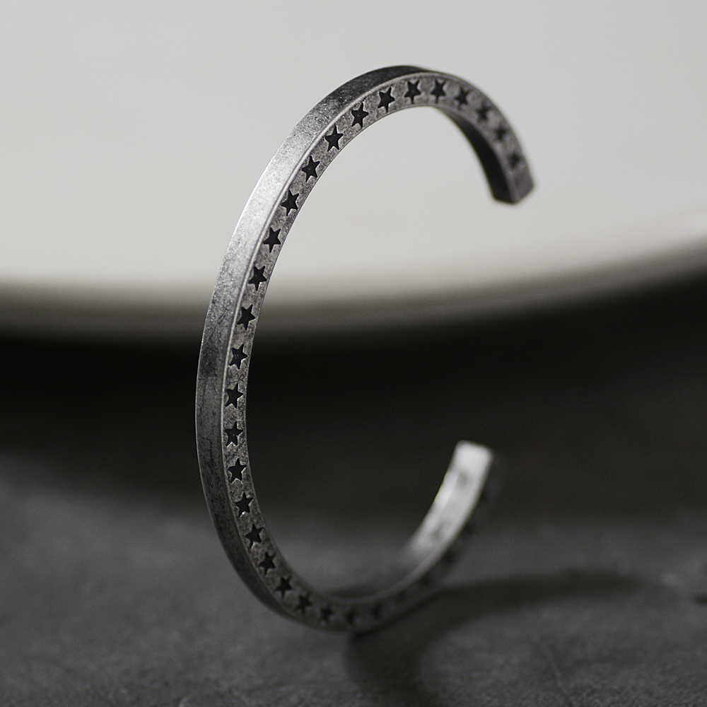 Viking Style Titanium Steel Bracelets Jewelry Accessories Men Women Punk rhombus Cuff Bangles for boys Men