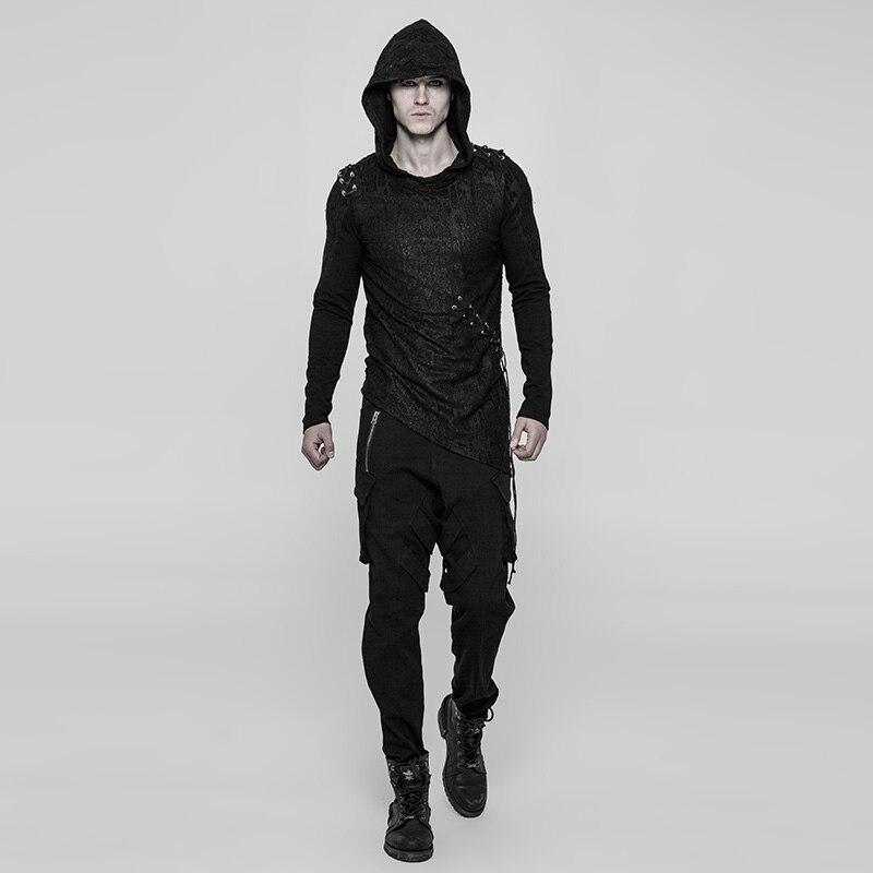 PUNK RAVE Nieuwe Punk Diablo T shirt Cool Black Mannen Shirts Gothic Zwarte Hoodie Nauwsluitend Rock Katoen Ongedwongen Persoonlijkheid tops - 3