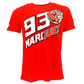 New locomotive motorcycle  Marc Marquez 93 Ant Signature  Moto GP T-shirt Red  2015
