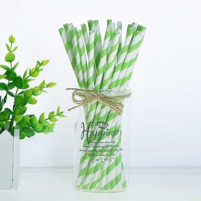 Pajitas creativas de papel de aluminio 25 uds., suministros para bodas, pajitas desechables para decoración para fiesta de Navidad fiestas de cumpleaños para niños