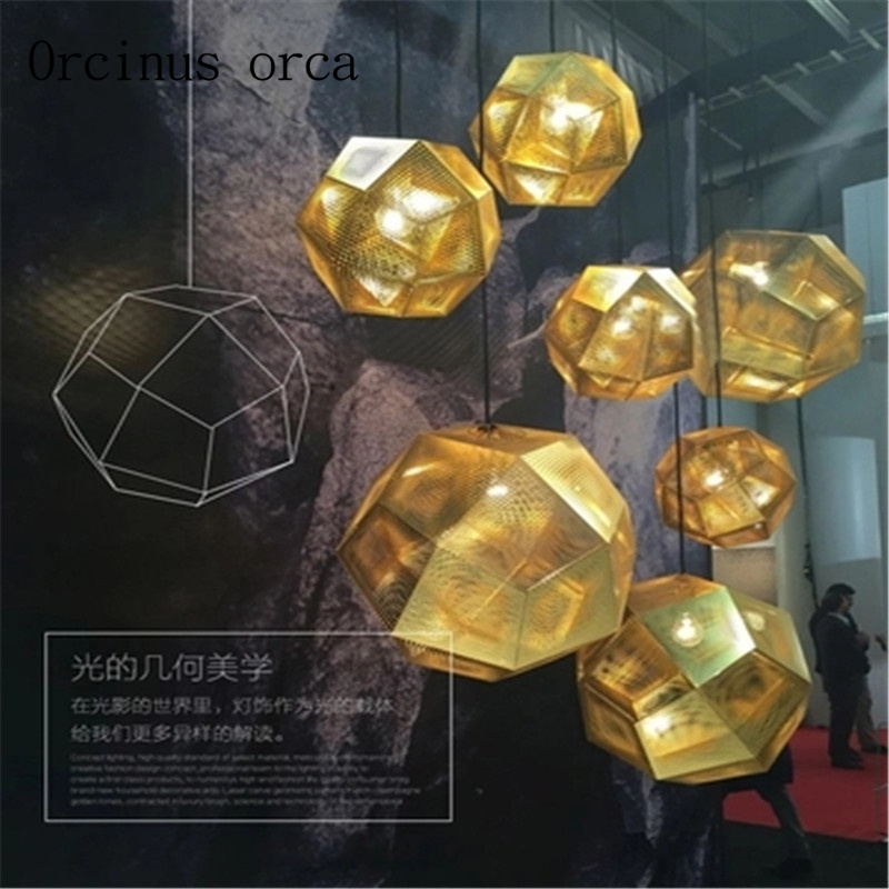 цена на Nordic creative multilateral ball star chandelier retro restaurant cafe bar upscale mesh geometry spherical Chandelier