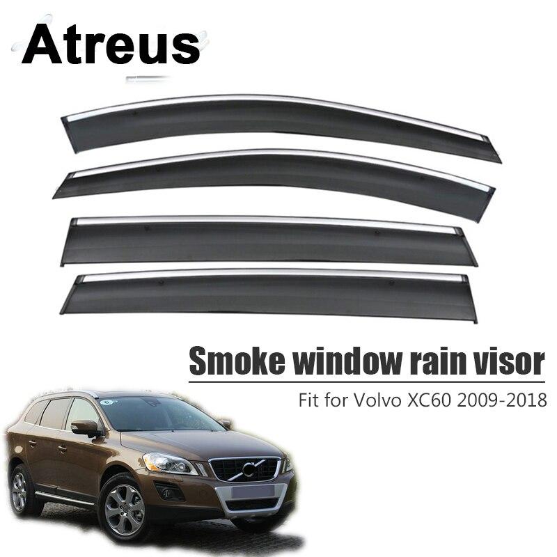 Black Horse Smoke Vent Shade Visors Rain Guards for 04 09 Chrysler Pacifica  SET