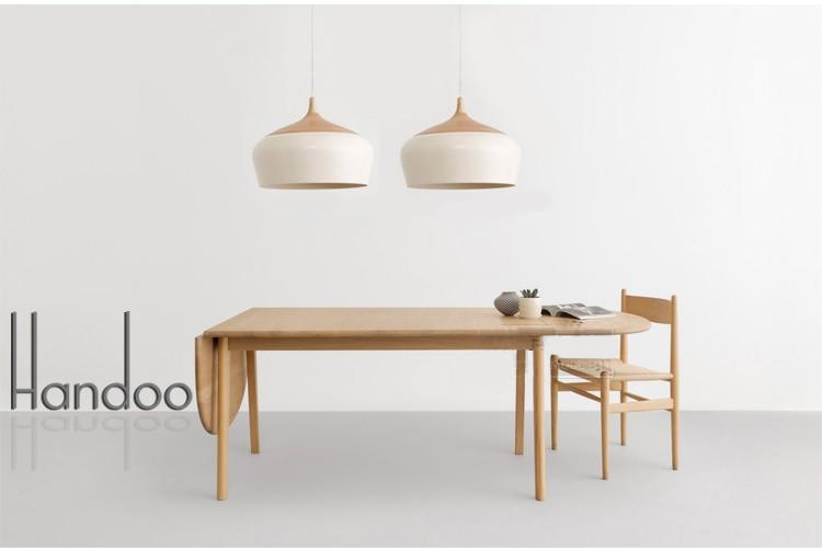 Promjer 30cm Češnjak oblik Drvo i aluminij Privjesak svjetlo - Unutarnja rasvjeta - Foto 3