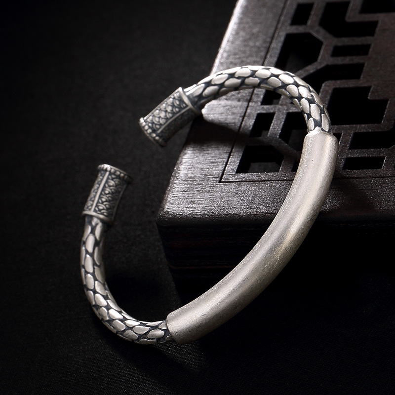 Armbanden Voor Vrouwen S990, Silver, Antique, Matte, Scale, Woven, Open Lady Bracelet, Sterling Antique Bracelet Wholesale. аксессуар чехол samsung gt i9300 galaxy s iii pulsar shellcase black psc0051