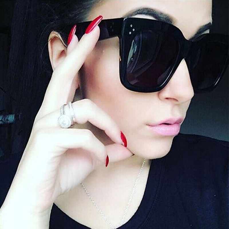 Max glasiz Fashion Women Sunglasses Square Sun Glasses Female Mirror Lense Summer Style Vintage Black Big Frame Eyewear UV400