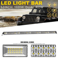 YNROAD 1020w 50inch dual rows Led slim Light Bar offroad bar combo beam for truck boat Hunting Driving Offroad Light