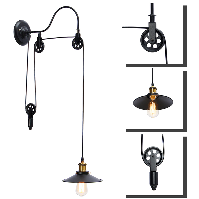 RetroE27 Pendant Lamp Kit Vintage Home Bar Adjustable Hanging Light Lamp Include Shade Edison Lamp Shade