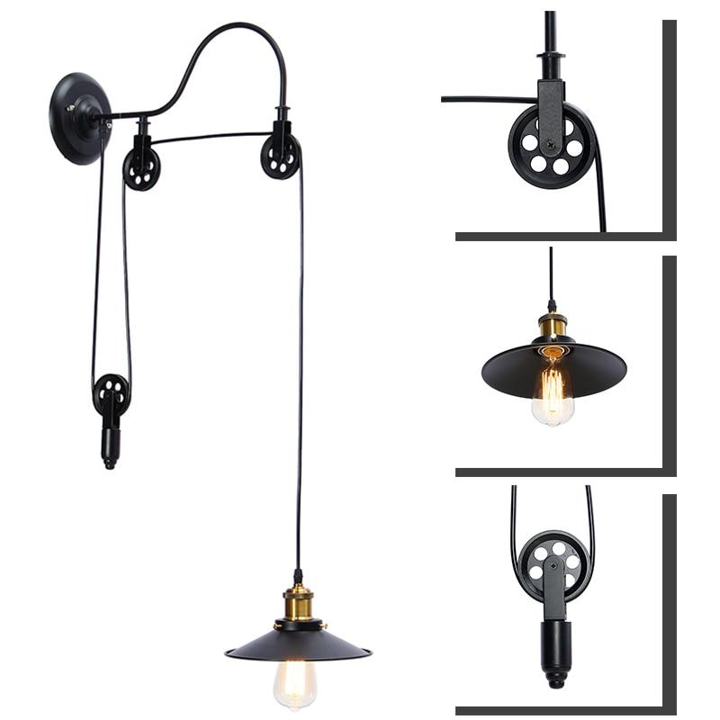Фотография RetroE27 Pendant Lamp Kit Vintage Home Bar Adjustable Hanging Light Lamp Include Shade Edison Lamp Shade Holder Socket Collar