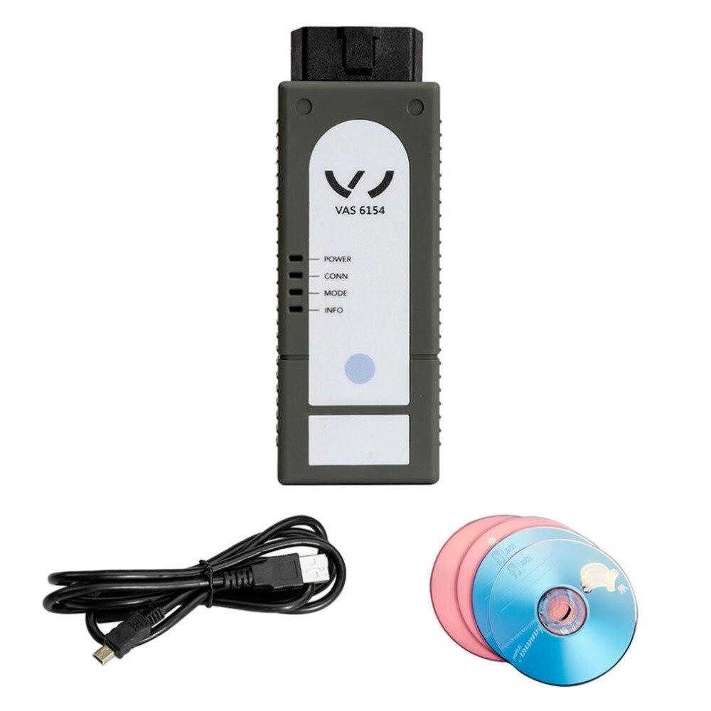 Newest VAS6154 ODIS V4.13 UDS WIFI Full Chip VAG Car OBDII Diagnostic Scanner Tool for VW Audi Skoda Support UDS Protocol цены