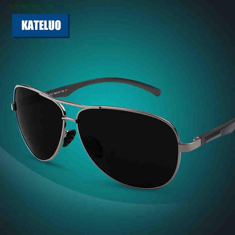 KATELUO Aluminum Magnesium Men's Polarized Sun glasses Male Sunglasses For Men Eyewear Accessories gafas oculos de sol 7757