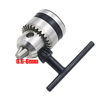 Drill Chuck 0.6-6mm Mount B10 Taper with 4/5/6/8/9.5/10/11/12/14mm Connector Rod Motor Shaft Key Wrench Power Tools  1