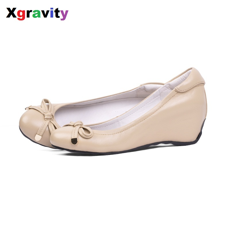 2018 Summer Autumn Fashion Mid-Heeled Wedge Shoes Round Toe Casual Woman Shoes Simple Butterfly Knot Shoes Women Footwear C001 women s shoes 2017 summer new fashion footwear women s air network flat shoes breathable comfortable casual shoes jdt103