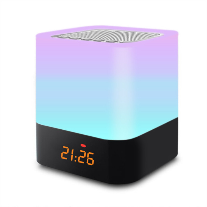 Bluetooth Speaker Night Light Rechargeable RGB table lamp Alarm Clock Light Bedside Ambience Lights   LED Novelty Lamp CreativeBluetooth Speaker Night Light Rechargeable RGB table lamp Alarm Clock Light Bedside Ambience Lights   LED Novelty Lamp Creative