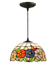 hand made Dia 30cm tiffany led e27 pendant lights for living room dining room vintage colorful glass pendant lamp 1775