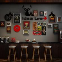 SUFEILE Vintage decorative photo wall Bar-Restaurant Decorative wooden photo frame Shop 3D wall hanging photo wall D40