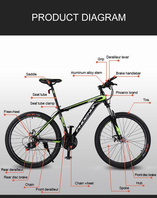 Online Shop Phoenix 24 Speed Bicycle Mens Road Bike Aluminum Alloy ...