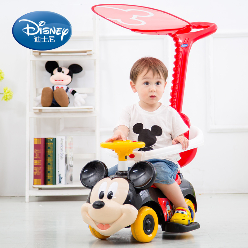 Disney children's twist rider push music baby walker anti-rollover with guardrail sliding yo car tos for chirdren free shipping new children twist car with music baby walker a push rod stroller scooter