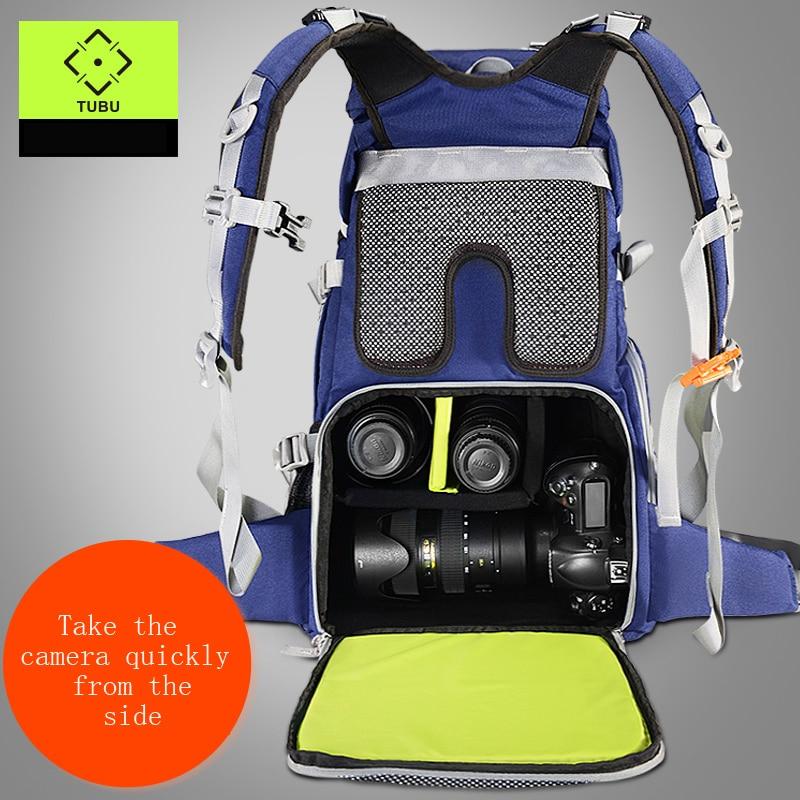 TUBU 6128 Travel Camera Backpack Digital SLR Backpack Soft Shoulders Waterproof Camera Bag Men Women Bag Camera Video Bag new lowepro transit backpack 350 aw slr camera bag backpack shoulders with pk national geographic carteras desigual bag