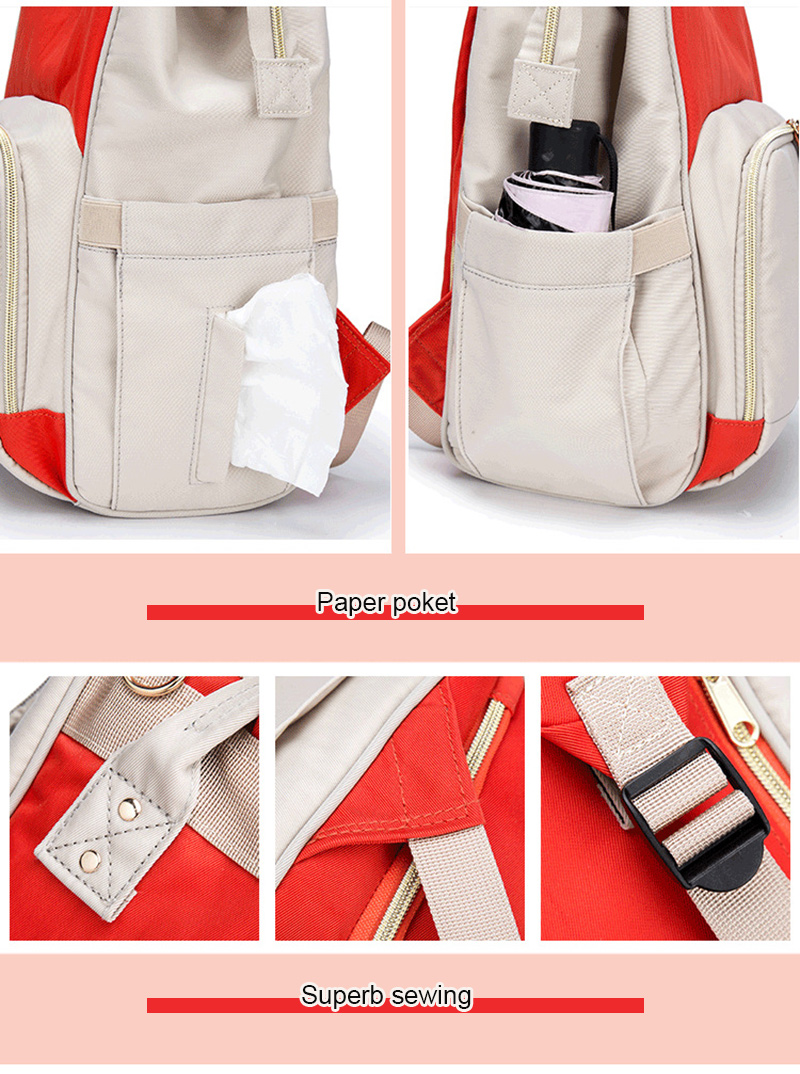 2019 New Baby Care Diaper Bag Travel Mummy Maternity Backpack For Baby Stroller Organizer Nappy Changing Bags Mother Bag  (17)