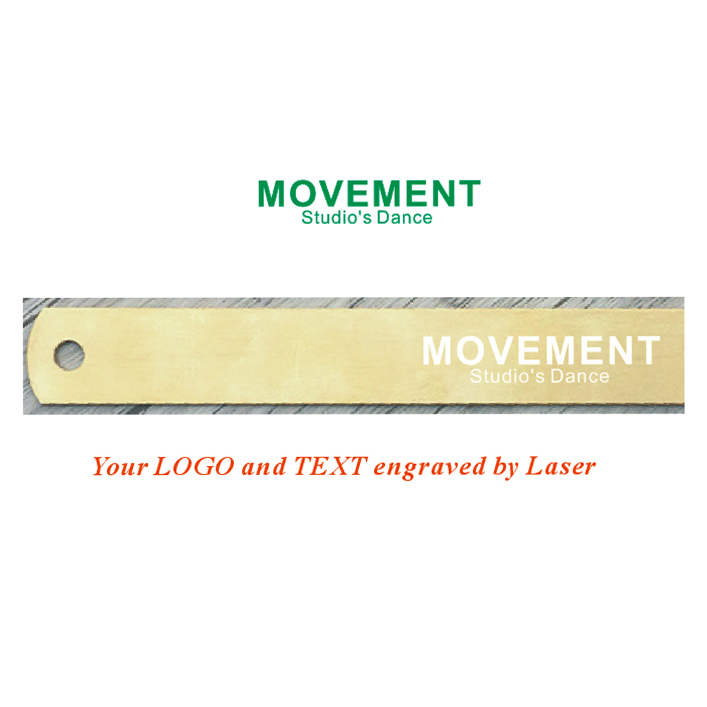 Mini Outdoor Brass Ruler Bookmark Double Scale Cm&Inch Digital Traveler Notebook Custom Engrave Free With Your Logo/text