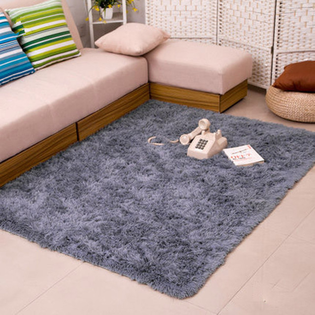 80 200cm Long Hair Carpet Bedroom Decorating Soft Floor Warm Colorful Living Room