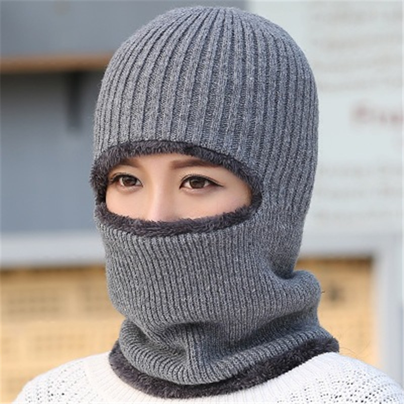 Hat winter men and women knitting hoods wool hat thickening warm cycling masked cold collar scar hat winter hats the new children s cubs hat qiu dong with cartoon animals knitting wool cap and pile