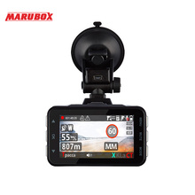 MARUBOX M610R Portable 3 In 1 Radar Detector GPS Car DVR Dash Camera Super HD 1296P Auto Video Registrator Recorder Dashcam 2018