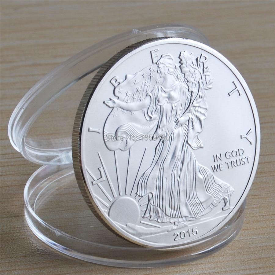 Мэтт Фрост B монеты American Eagle Серебряные монеты перевернутый задняя сторона 5 шт./лот Бесплатная доставка Прогулки Свобода Silver Eagle монеты ...