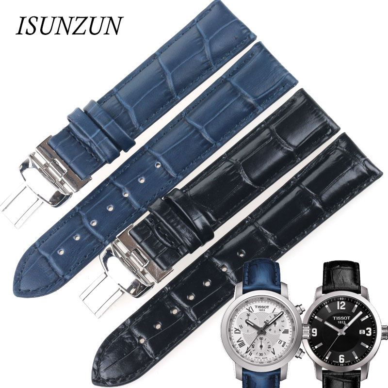 ФОТО Top Quality Watchband For Tissot T055 For PRC200/ T055410A/417/430 Black Blue Watches Strap Bands Bracelets Watchbands Correa Ro