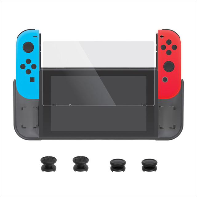 KaRue Games Accessories For Switch With Cover TPU Set + Film + Rocker Cap NS Host Protection Set