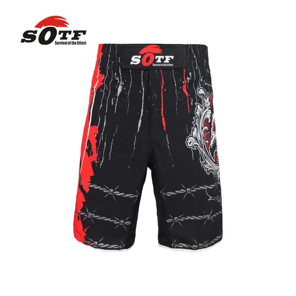 SOTF Темный ветер издание Дышащие хлопковые боксеры шорты ММА спортивные тренировочные Муай одежда тайская ММА шорты для кикбоксинга короткие шорты