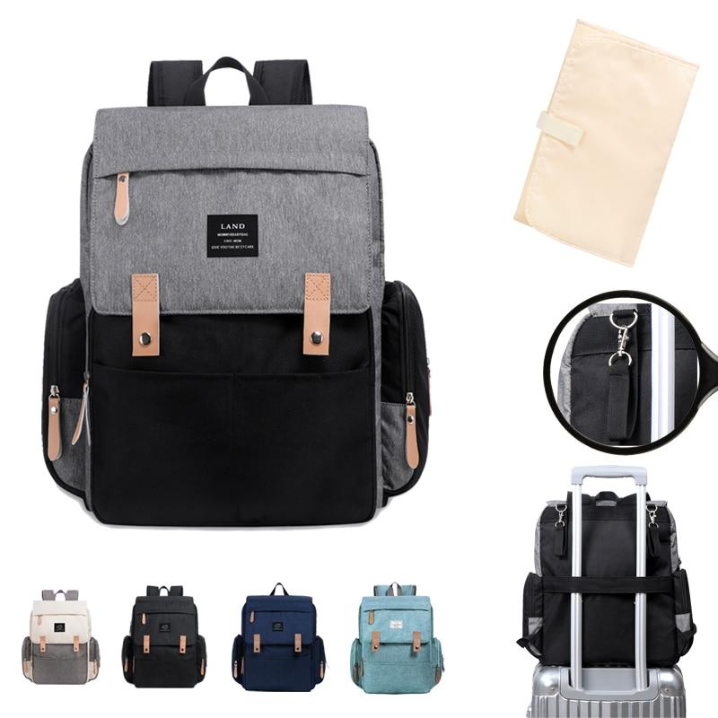Bolsas de pañales LAND Mommy Landuo Mother, mochilas de pañales de viaje de gran capacidad con alfombrilla cambiante, bolsas para lactantes MPB86