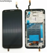 "5.2 ""per lg G2 D802 Display LCD Touch Screen Digitizer Assembly con cornice castone(China)"