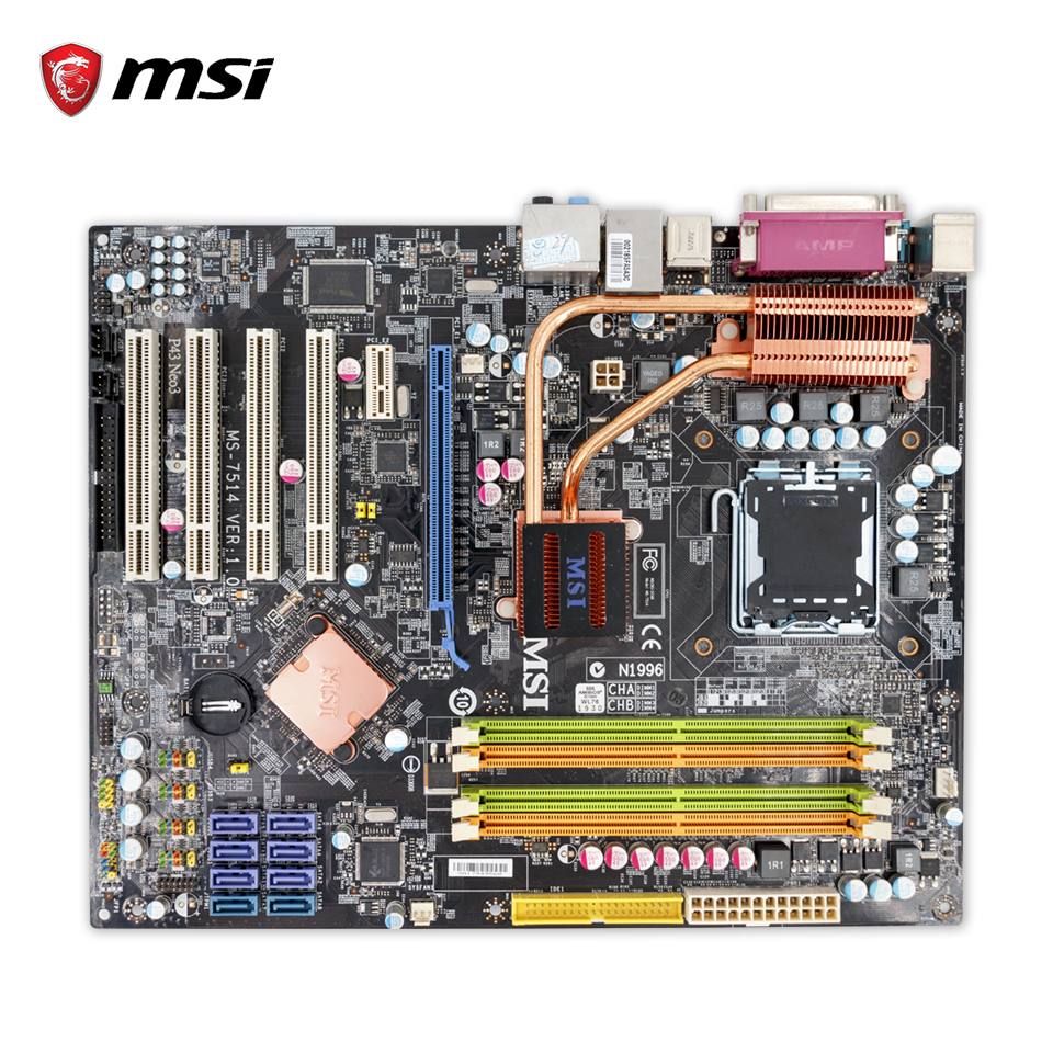 MSI P43 NEO3-F Original Used Desktop Motherboard P43 Socket LGA 775 DDR2 16G SATA2 USB2.0 ATX used motherboard mainboard for msi p31 neo2 lga 775 ddr2 usb2 0