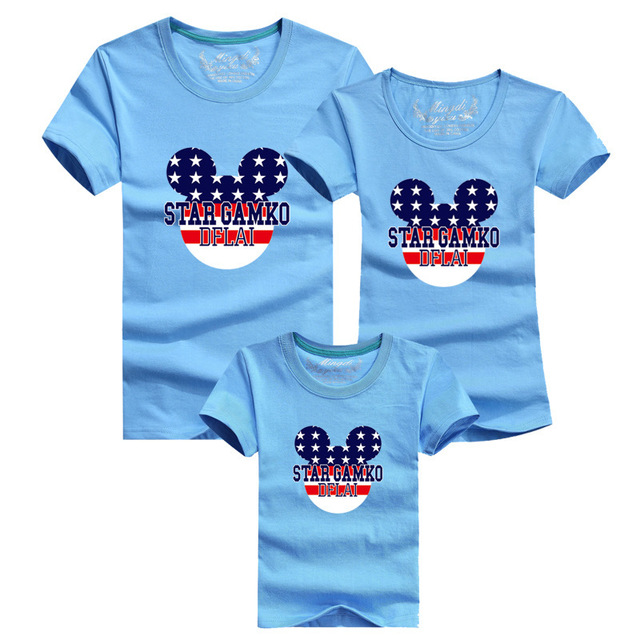 15fba4fb 13 Colors Cartoon Mouse Women Men Kids T shirts Mom Dad Daughter Son Family  Matching Outfits summer Casual Children's Costumes