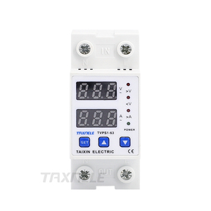Image 3 - 63A 110V Din rail adjustable over under voltage protective device protector relay Current Limiting Protection