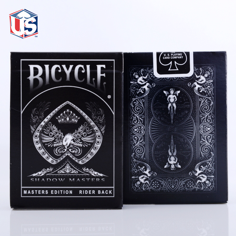 Shadow Masters Original Bicycle Shadow Master Playing Card Black Deck By Ellusionist Creative Magic Poker Magic
