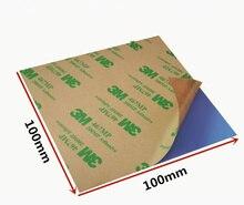 100*100mm 0.3/0.5/1/1. /2/3mm soğutma silikon termal Pad sac çift taraflı yapışkan dizüstü bilgisayar CPU GPU 3W silikon pedleri