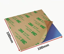 100*100mm 0.3/0.5/1/1.5/2/3mm Cooling Silicone Thermal Pad Sheet Double Sides Adhesive Laptop Computer CPU GPU 3W Silicone Pads