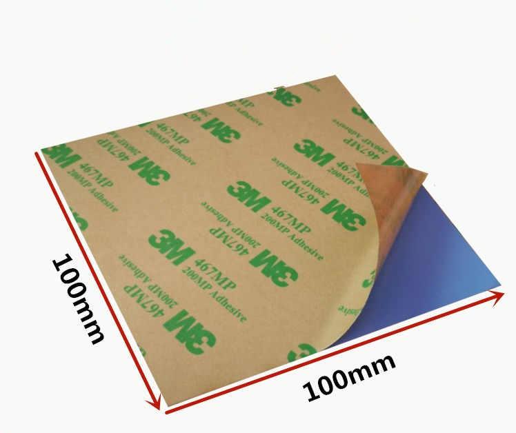 100*100mm 0,3/0,5/1/1. 5/2/3mm almohadilla térmica de silicona de enfriamiento hoja adhesivo de doble cara ordenador portátil CPU GPU 3W almohadillas de silicona