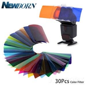 Image 5 - FALCON Mắt CFA 30K Bộ Đèn Flash 30 Màu Gel với Bộ Barndoor & Phản Quang & Túi dành cho Máy Ảnh Canon Nikon YONGNUO ĐÈN Flash GODOX
