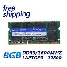 Kembona ddr3 8gb 1600mhz PC3 12800 ram ddr3 1600mhz 8gb para todos os placa mãe SO DIMM ram ddr3 computador portátil memória frete grátis