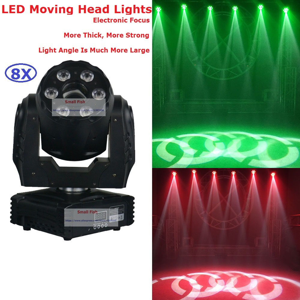Free Shipping 8 Unit 30W White LED + 48W RGBW 4IN1 Color Hybrid 95W Led Moving Head Gobo Spot Wash Light For Party Wedding Disco